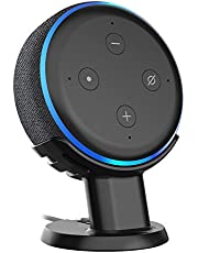 SPORTLINK Table Holder for Echo Dot 3rd Gen Improves Sound Audibility and Appearance - A Must Have Accessories (Black)