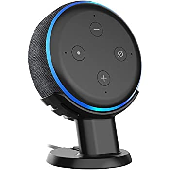 Echo Dot 3rd Gen Pedestal Mount Holder Stand for Echo Dot 3rd Gen, A Cleaner Tidier Appearance Solution Stand and Improves Sound Visibility and Appearance for Dot 3rd Gen-Black