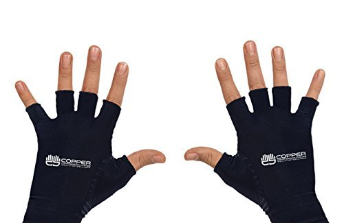 Wealth of Wellness Copper Compression Gloves for Rheumatoid Arthritis, Pain Relief, and Therapy Associated With Symptoms Of Carpal Tunnel ()