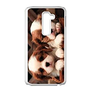 LIULAOSHI Little Dog Phone Case for LG G2 White [Pattern-1] by Maris's Diary