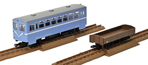 Tetsudou Collection - Narrow Gauge 80 Tomibetsu Simple Track Self-propelled Passenger Car Aozora-gou + Open Wagon Set