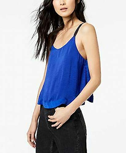 Free People $48 Womens New 1102 Blue Double Strap Cami Top XS B+B