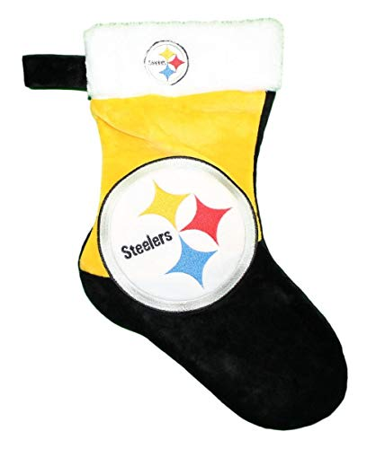 FOCO NFL Pittsburgh Steelers 2018 Basic Holiday Stocking, Team Color, One Size (Decorations Steelers Christmas)