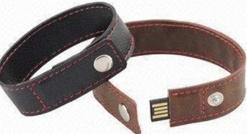 Gimme Flash Brown Leather Bracelet USB (32 GB)