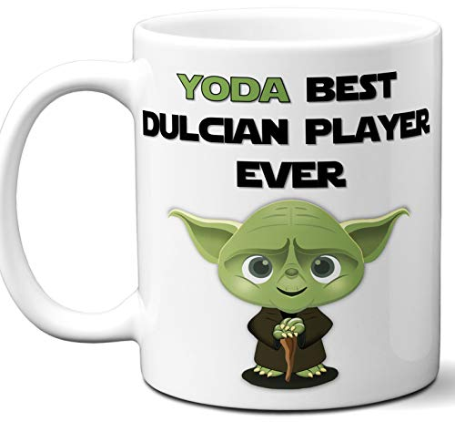 Funny Gift For Dulcian Player, Musician. Yoda Best Ever. Cute, Star Wars Music Instrument Themed Unique Coffee Mug, Tea Cup Idea for Men, Women, Birthday, Christmas, Coworker.