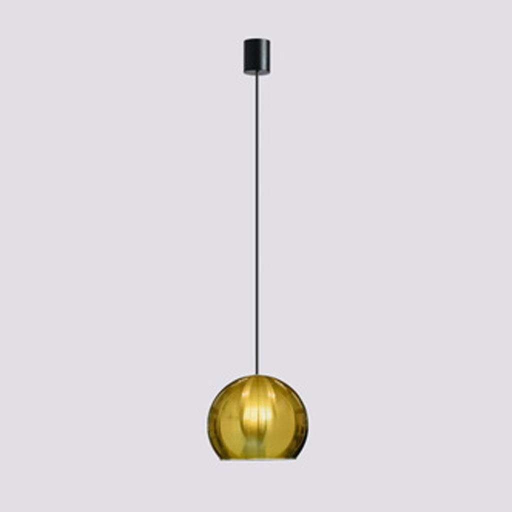 YQCS●LS 北欧モダンシンプルペンダントランプ小さなシングルヘッドシャンデリアクリエイティブ人格球形シーリングライト、バー用レストランオフィスベッドサイド (Color : Brass) B07SWZLY3D Brass