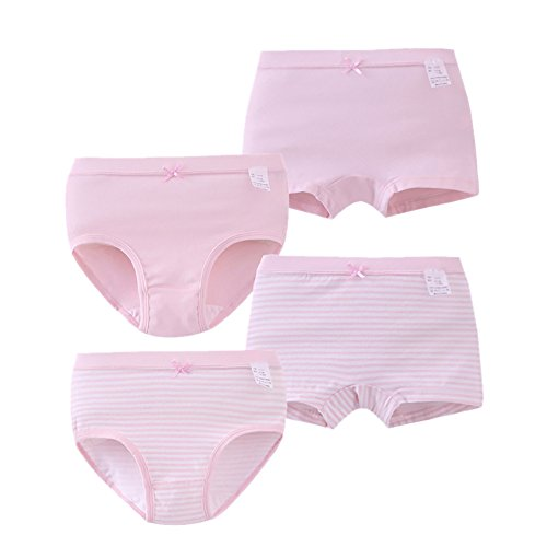 Zegoo Comfy Cotton Baby Underwear Assorted Briefs Panties with Bow-Knot