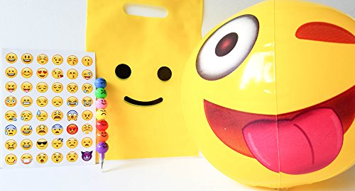 6 Pack of Emoji Favor Bags and Treat Bag Goodies