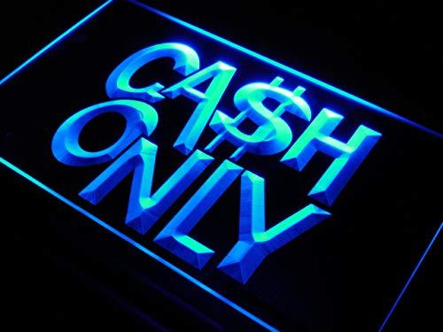 (ADVPRO s113-b Cash Only Cashier Shop Cafe Neon Light Sign )