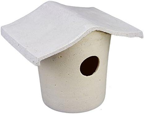 2 colores Pajarera piedra NIST kaste Caja Nido Casita Gres NIST Casa: Amazon.es: Productos para mascotas