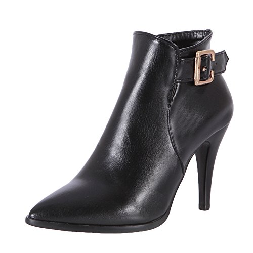Toe Ankle Boots High Black Pointed Heels Latasa Dress Womens qSwB7gzXxE
