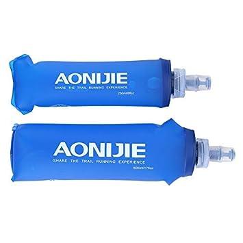 TOPINCN Botella Plegable Senderismo Botella Bolsa Agua cantimplora ...
