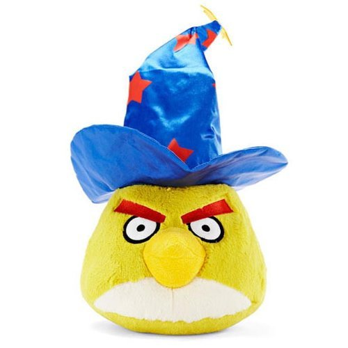 Angry Birds Halloween 5-Inch Plush Yellow Bird with Wizard Hat -