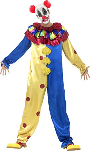 Men Halloween Fancy Festival Party Goosebumps Clown Costume With Jumpsuit - Funtober  sc 1 st  Funtober & Men Halloween Fancy Festival Party Goosebumps Clown Costume With ...