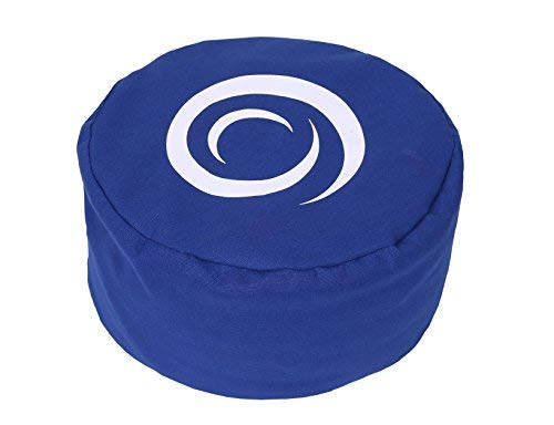Ultizen Meditation Cushion. Buckwheat Hull Filled, Cotton Outer Cover. Improve Your Comfort and Posture While Meditating with This Yoga Pillow