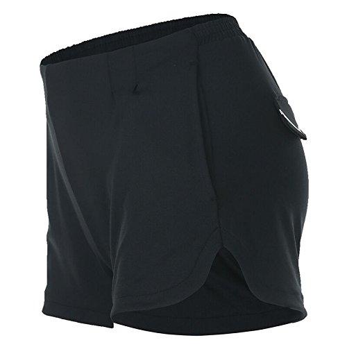 Transpirable Shorts Suelto Entrenamiento Verano Cortos Ejecutando Secado Yoga Femenino Mayuan520 Rápido De Estilo Pantalones Deporte Negro anAvqwT