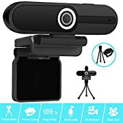 #LightningDeal 4K Webcam, Webcam 8MP HD Computer Camera with Microphone, Pro Streaming Web Camera with Privacy Shutter and Tripod, PC Mac Desktop Laptop Notebook USB Webcams for Video Calling Recording Webcam