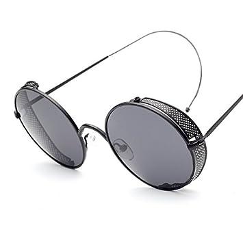 Izusa (TM) moda Steampunk gafas de sol mujer marca funda de ...