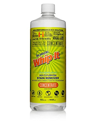 Whip-It Multi-Purpose Stain Remover - 32oz Concentrate - Plant-Based with All 6 Enzymes - All Natural - Made in USA
