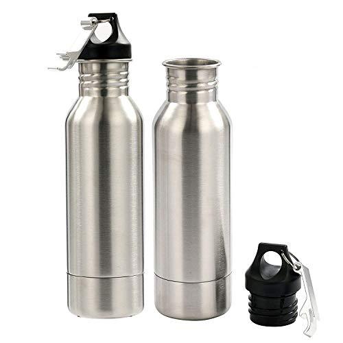 YaeBrew Stainless Steel Bottle Holder Insulator Beer Bottle Coolers Cold Beer Keeper - 2 Pack - with Bottle Opener - Keep Beer or Beverage Ice Cold (Stainless Steel Bottle Holder)