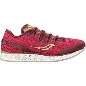 Saucony Freedom ISO Women's Running Shoes Size US 6.5, Regular Width, Color Red/Yellow