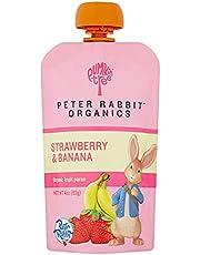 Peter Rabbit Organics Organic Fruit Snack 100% Pure Strawberry And Banana (10x4Oz)