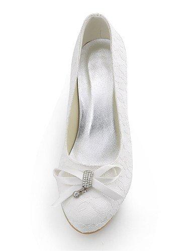 aguja 2in talones mujeres 2 de zapatos de 3 redonda punta 4in fiesta tacón seda talón amp; blanco white de zapatos de nbsp;noche boda vestido GGX 2in las 3 white 2 4in de de la YHUJI 4Fnwx58OF