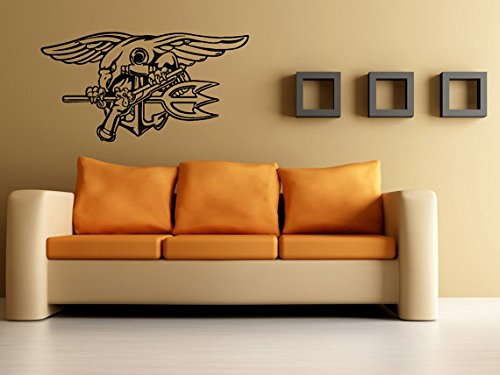 Navy Seals Decal Navy Seals Sticker Seal Trident Navy's Sea, Air, Land Teams Special Operations Force G4048
