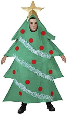 Atosa-96361 Disfraz Árbol Navidad Niño Infan, Color Verde, 10 a 12 años (96361)