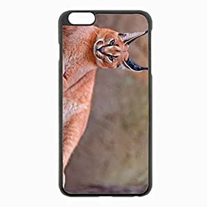 iPhone 6 Plus Black Hardshell Case 5.5inch - caracal rest beautiful Desin Images Protector Back Cover