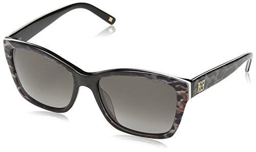 Escada - Lunette de soleil SES307 Wayfarer  - Femme Shiny black & grey leopard pattern frame/ gradient smoke lens