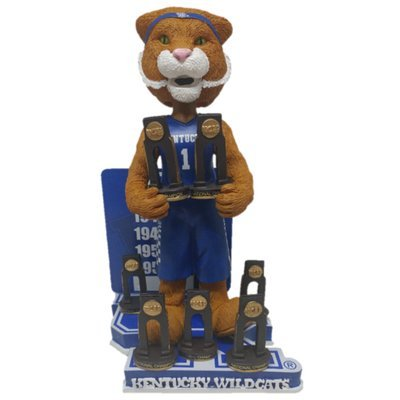 Scratch the Wildcat Mascot Kentucky Wildcats University of Kentucky NCAA Men's Basketball National Championship Series Bobblehead (Limited Edition of 216) by Forever Collectibles