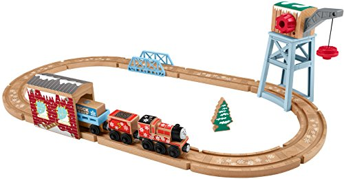 Fisher-Price Thomas & Friends Wood, Snowy Rails Set