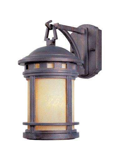 Designers Fountain 2371-AM-MP Sedona Wall Lanterns, Mediterranean Patina Patina Outdoor Fixture