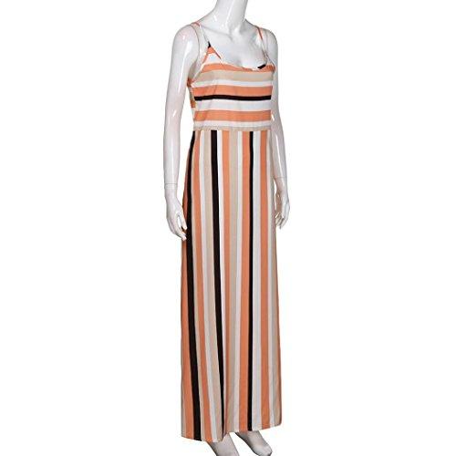 Femmes Robe pour Multicolore de Fendues Rayures TM Jupe Soire MuSheng P0w6x5Oqq