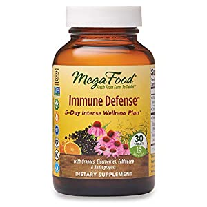 bottle containing best immune defence supplement tablets
