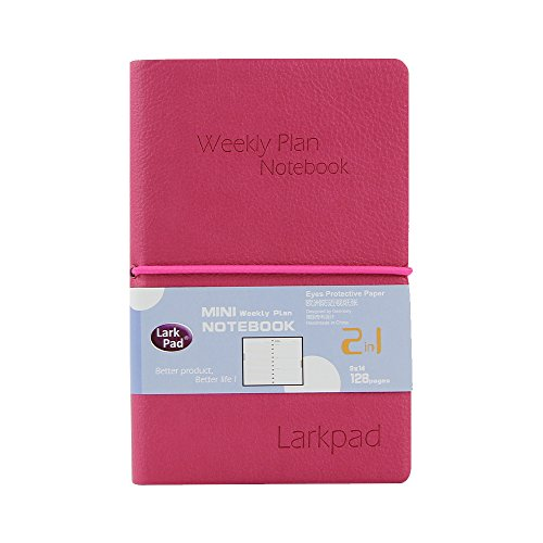 "Larkpad 2018-2019 Small Pocket Planner, 3.5"" x 5.5"" Weekly and Monthly Academic Planner with Calendar, July 2018 - Jun 2019, with Inner Pocket"