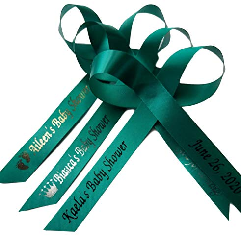 Personalized Ribbons 25 Wedding Ribbons, Bridal Shower Favor, Party Favors, Wedding Favor, Bridal Favor, Bridesmaids Gifts, Sweet 16 Party Favor (Teal)