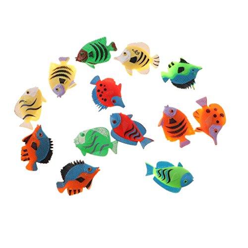 Perfk 全12点 熱帯魚モデルおもちゃ トロピカルフィッシュ 可愛い熱帯魚 模型 動物おもちゃの商品画像