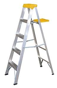 Surtek et4 escalera de aluminio tipo tijera 4 pelda os 1 for Escaleras aluminio amazon