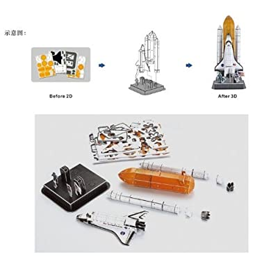 Liberty Imports 3D Puzzle DIY Model Set - Worlds Greatest Architecture Jigsaw Puzzles Building Kit (Space Shuttle Discovery): Toys & Games