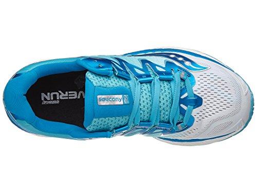 Gymnastique Saucony Femme bleu Chaussures De Blanc Iso 4 Triumph 66xHqg