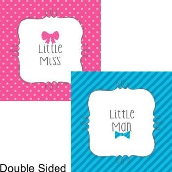 Creative Converting Bow or Bowtie? Beverage Napkin (16) Little Man or Miss Gender Reveal Shower]()