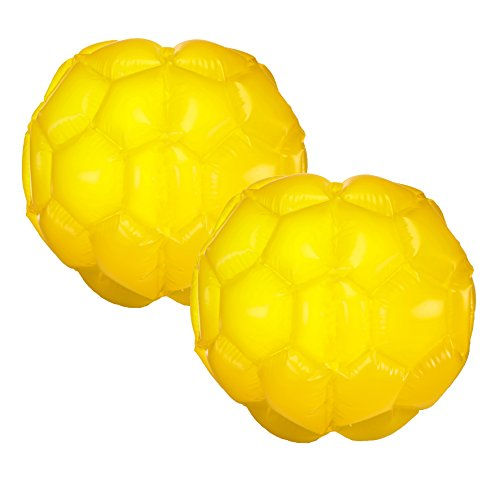 Large Belly Bump Ball, inflatable outdoor bumper ball - Double Pack (2 units) - Yellow