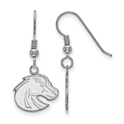 Boise State Small (1/2 Inch) Dangle Earrings Wire (Sterling Silver) (Logo Earrings Dangle 1/2)