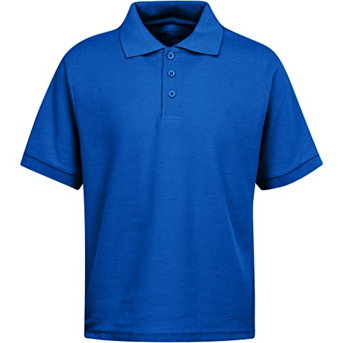 Premium Boys Uniform Polo Shirt Royal Blue XS (Kids Royal Blue Apparel)
