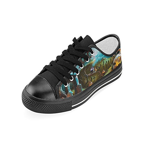 D-story Custom Happy Halloween Pumpkin Womens Classic Canvas Shoes Moda Sneaker Multicoloured6