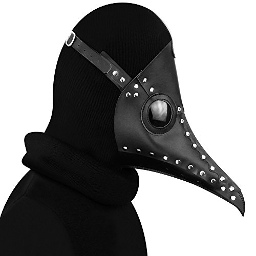 Hibiscus HIBIRETRO Steampunk Gothic Retro Plague Beak Doctor Bird Mask Halloween Christmas Costume Props (Style9)]()
