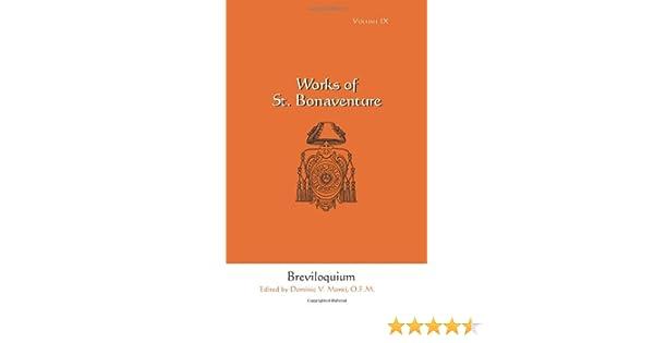 Breviloquium (Works of St. Bonaventure, Vol. 9)