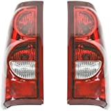 Taillights Taillamps Rear Brake Lights Pair Set For 2003 Chevy Silverado